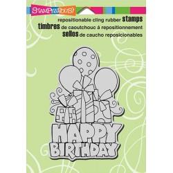Stempel do scrapbookingu Stampendous, Chunky Birthday CRP298