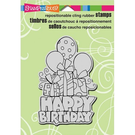 Stempel gumowy Stampendous, Chunky Birthday [CRP298]