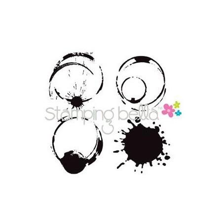 Stemple do scrapbookingu Stamping Bella, Java Spills - plamy