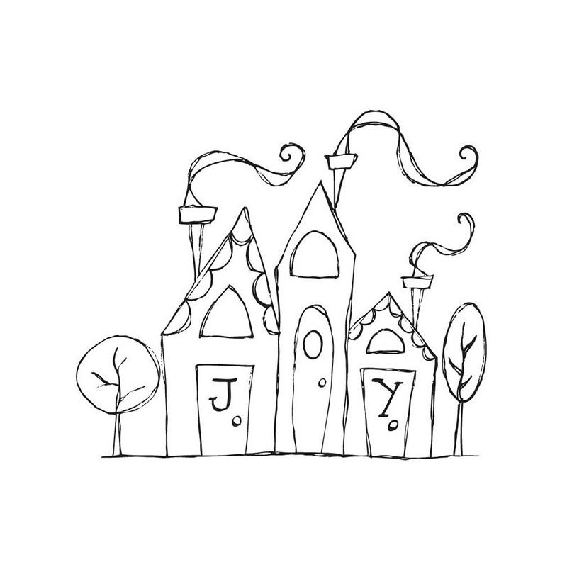 Stempel do scrapbookingu Stamping Bella, Joyful Village
