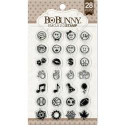 Stemple akrylowe BoBunny, Essentials Stamps, Emoji 2.0