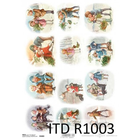 Papier do decoupage ryżowy A4 ITD R1003