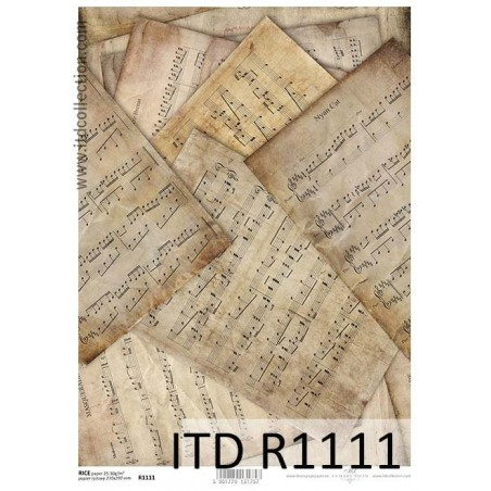 Papier ryżowy A4 ITD R1111, Nuty
