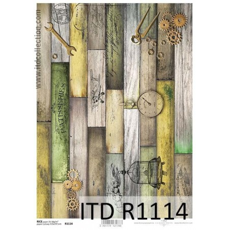 Papier ryżowy A4 ITD R1114, Kolorowe deski