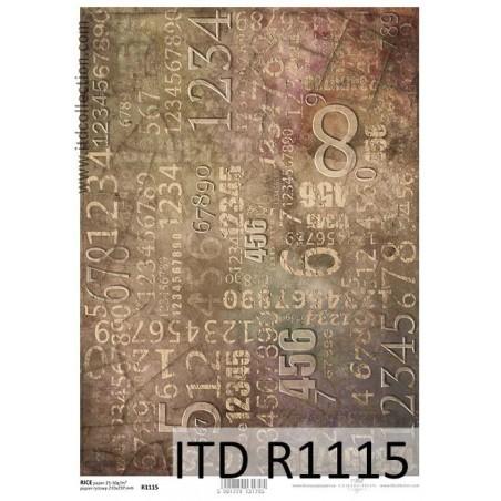 Papier ryżowy A4 ITD R1115, Tłoczone cyfry