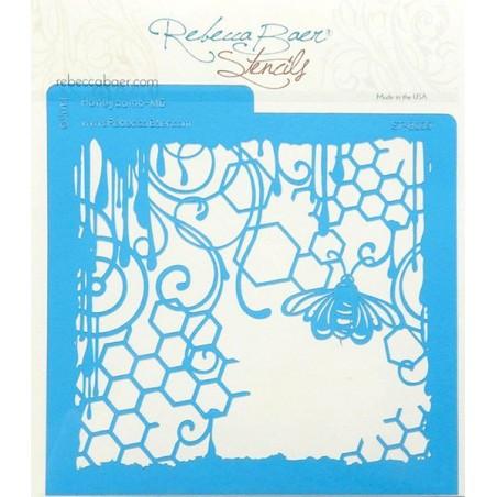 Szablon Rebecca Bear Stencil, Honeycomb [609]