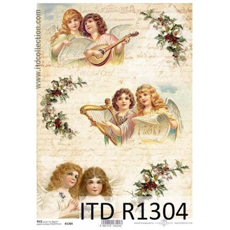 Papier ryżowy A4 ITD R1304, Anielskie chórki 2