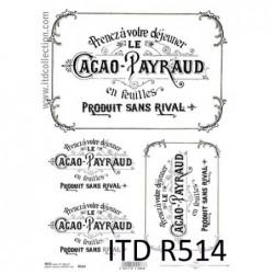 Papier ryżowy A4 ITD R0514,...