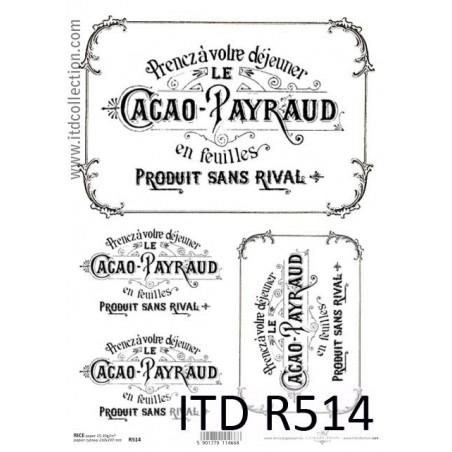 Papier ryżowy A4 ITD R0514, Cacao Payraud