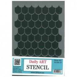 Szablon Daily ART Rootfile 1 dachówka - do decoupage i scrapbookingu