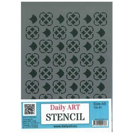 Szablon Daily ART Tile 1 - do decoupage i scrapbookingu
