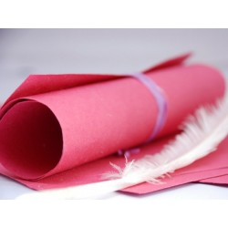Papier czerpany A4, różowy...
