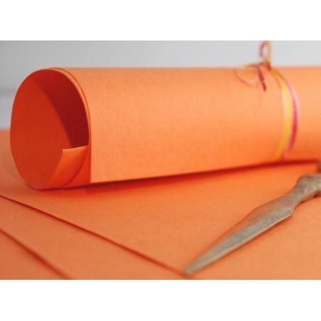 Papier czerpany A4, pomarańczowy 150 gsm, 1 ark. [P_512]