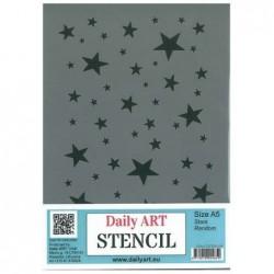 Szablon Daily ART Stars Random - gwiazdki - do decoupage i scrapbookingu