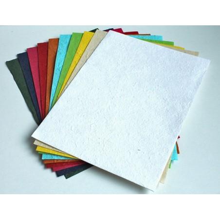 Papier czerpany morwowy A4, mix kolorów 30 gsm, 10 ark. [PM_151]