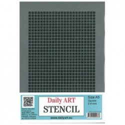 Szablon Daily ART Square 0.4 - do decoupage i scrapbookingu