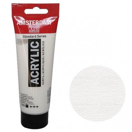 Farba akrylowa Amsterdam Standard, 105 Titanium White, tuba 120 ml
