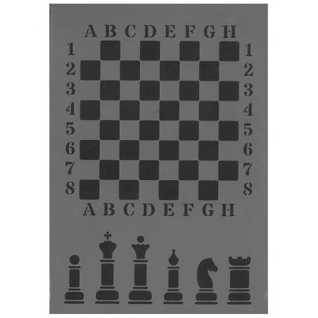 Szablon Daily ART A4 Chess Large - do decoupage i scrapbookingu