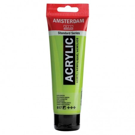 Farba akrylowa Amsterdam Standard, 617 Yellowish Green, tuba 120 ml