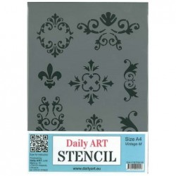Szablon Daily ART A4 Vintage M - do decoupage i scrapbookingu