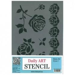 Szablon Daily ART A4 Roses 1 - do decoupage i scrapbookingu