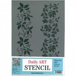 Szablon Daily ART A4 Wild Flowers Border - do decoupage i scrapbookingu