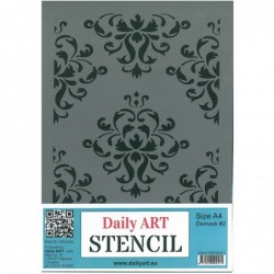 Szablon Daily ART A4 Damask 2 - do decoupage i scrapbookingu