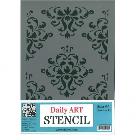 Szablon Daily ART A4 Damask 2 - do decoupage i scrapbookingu