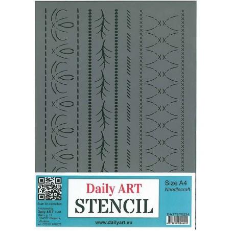 Szablon Daily ART A4 Needlecraft - do decoupage i scrapbookingu