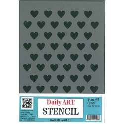 Szablon Daily ART Hearts 13x13 - serca - do decoupage i scrapbookingu
