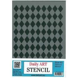 Szablon Daily ART Diamond Medium - do decoupage i scrapbookingu