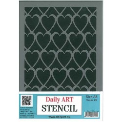 Szablon Daily ART Hearts 2 - serca - do decoupage i scrapbookingu