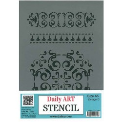 Szablon Daily ART Vintage O - do decoupage i scrapbookingu