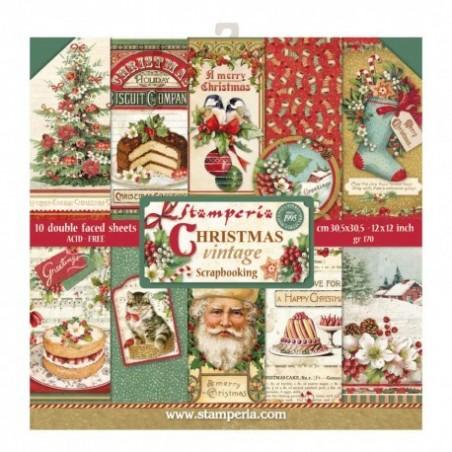 Bloczek papierów do scrapbookingu 12x12, Vintage Christmas [SBBL45]