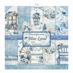 Bloczek do scrapbookingu 30x30 cm Blue Land Stamperia SBBL47