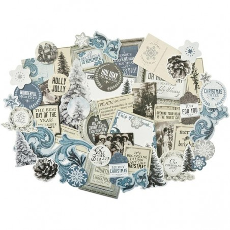 Zestaw wyciętych tekturek, Frosted Collectables Cardstock Die-Cuts [CT864]