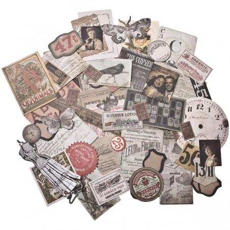 Zestaw elementów papierowych, Idea-Ology Ephemera Pack, Thrift Shop [TH93114]