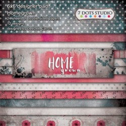 Bloczek papierów do scrapbookingu Homegrown - 7 Dots Studio