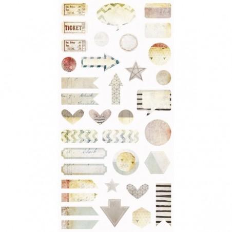 Dodatki tekturowe 6x12, Dreamscapes - Die cut Elements [7DS] - WYPRZEDAŻ