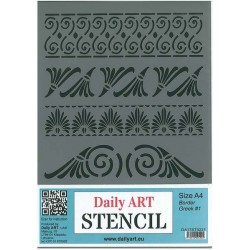 Szablon Daily ART A4 Border Greek - do decoupage i scrapbookingu