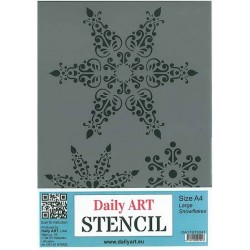 Szablon Daily ART A4 Large Snowflakes - do decoupage i scrapbookingu