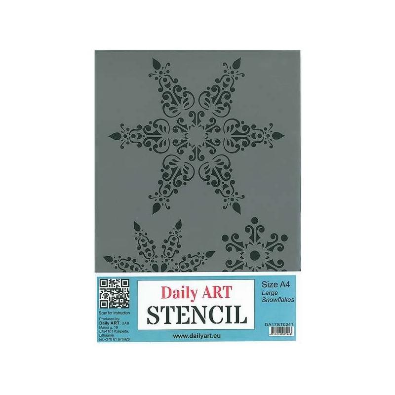 Szablon Daily ART A4 Large Snowflakes - do decoupage i scrapbookingu