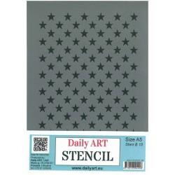 Szablon Daily ART Stars B10 - gwiazdki - do decoupage i scrapbookingu