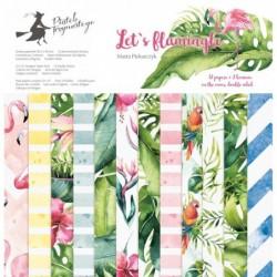 Zestaw papierów do scrapbookingu Let's Flamingle - Piątek Trzynastego