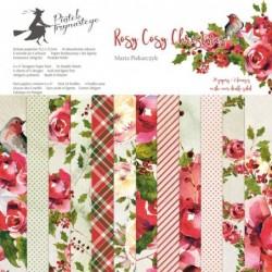 Zestaw papierów do scrapbookingu Rosy Cosy Christmas - Piątek Trzynastego