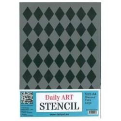 Szablon Daily ART A4 Diamond Extra Large - do decoupage i scrapbookingu