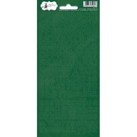 Arkusz naklejek - Alfabet, zielony Let's Flamingle 01 [P13]