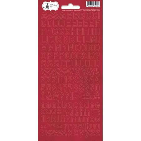 Arkusz naklejek - Alfabet, czerwony Rosy Cosy [P13]