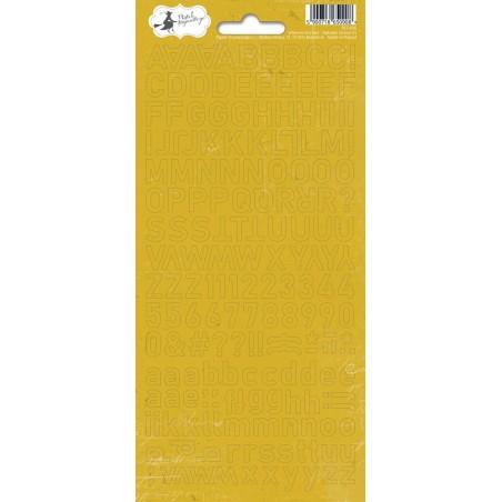 Arkusz naklejek - Alfabet, żółty When We First Met 01 [P13]