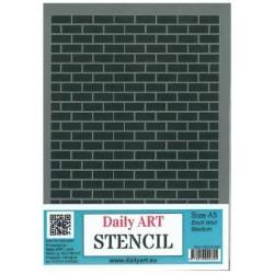 Szablon Daily ART Brick Wall Medium - do decoupage i scrapbookingu